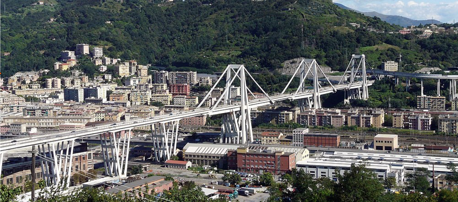 The Ponte Morandi before collapse