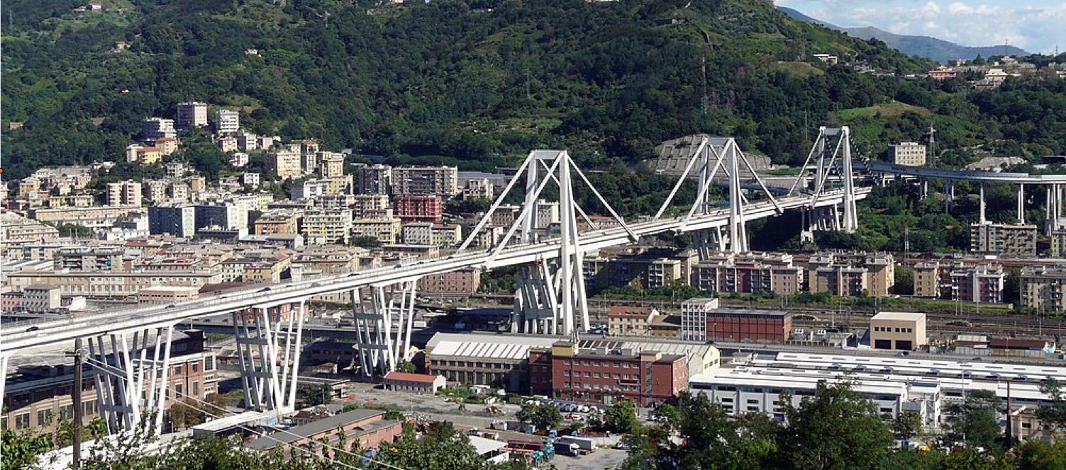 The Ponte Morandi before collapse